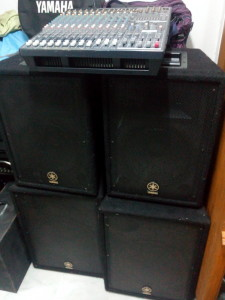 4 Speaker Yamaha Medium system with Powered Mixer